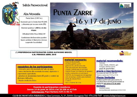 mini punta zarre 16 17 junio 2018