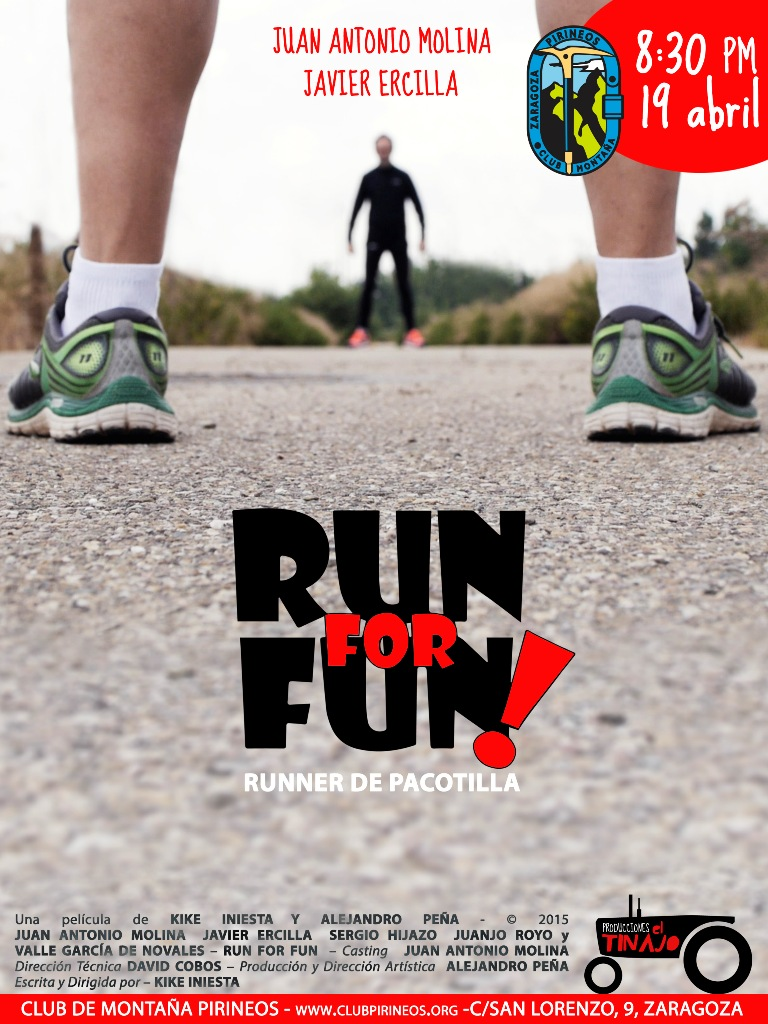 Cartel mini piernas run for fun ESTRENO CLUB